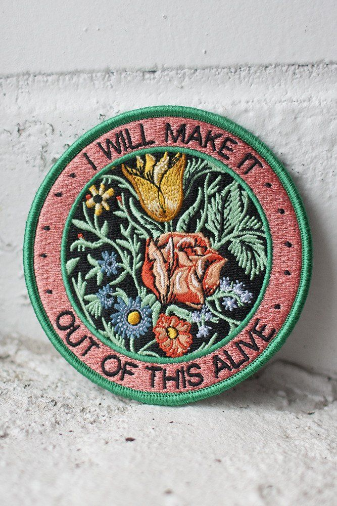 """We worked with Allison Weiss to design a series of 3 patches based on the lyrics from her new album New Love. This patch is inspired by the song """"Out Of This Al"""