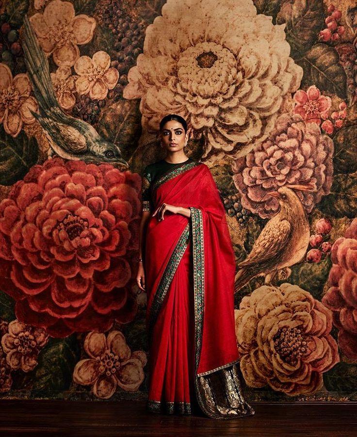 Sabyasachi Campaign 2016 @sabyasachiofficial Model: @vishakha_b Hair: @francovallelonga Makeup: @aabhijit_c Assistants: @vikram_rana, @nithin_1990 & Varun Sharma Post: Arun Kumar #sabyasachi #indian #designer #vintagecouture  #India #fashion #madeinindia