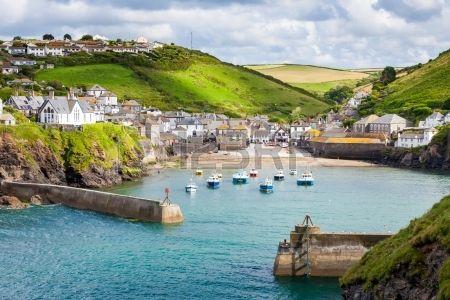fishing village of Port Isaac on the North Cornwall Coast England UK Stock Photo