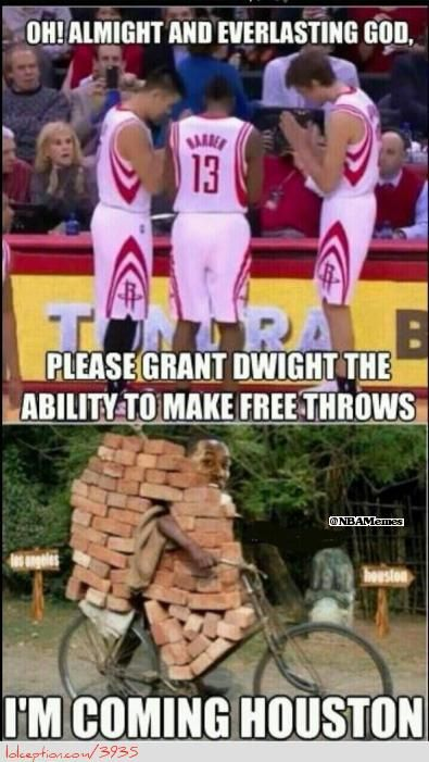 Dwight Howard arriving with bricks? - http://weheartchicagobulls.com/nba-funny-meme/dwight-howard-arriving-with-bricks