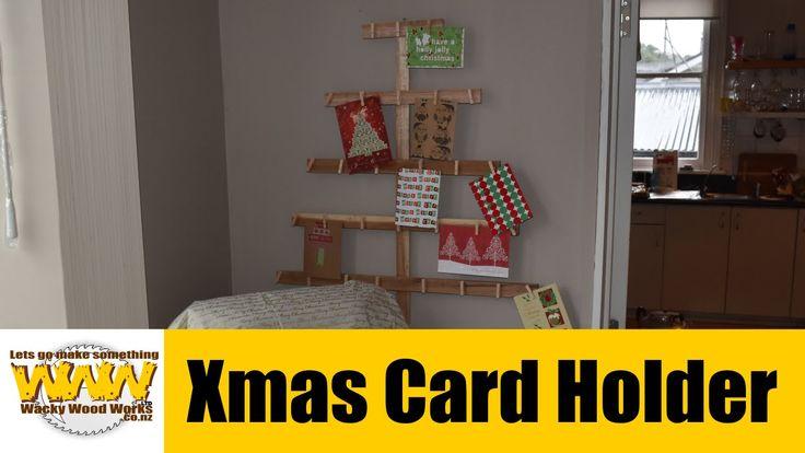 Xmas Card Holder - Off the Cuff - Wacky Wood Works