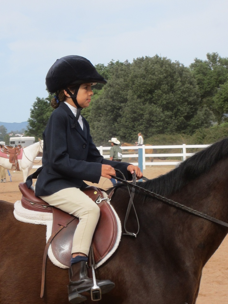 Isabela and Soda Pop at her first Horse Show