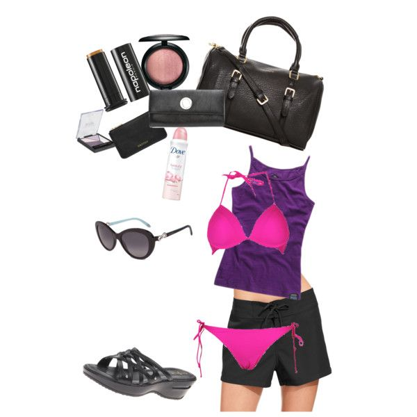 Cute beachy outfit pink togs underwire bikini