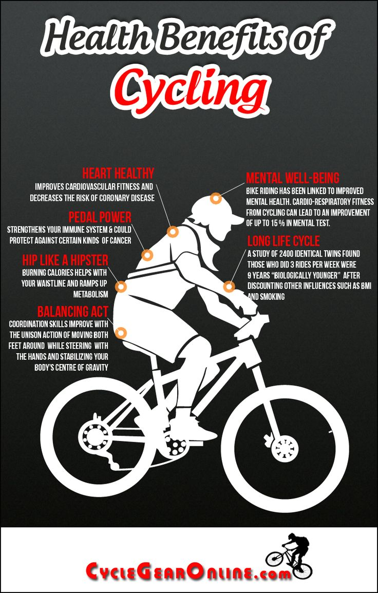 Balanced fitness and cycling signal mountain - Cycling Can Improve Your Health As Illustrated By This Infographic The Health Benefits Of Cycling