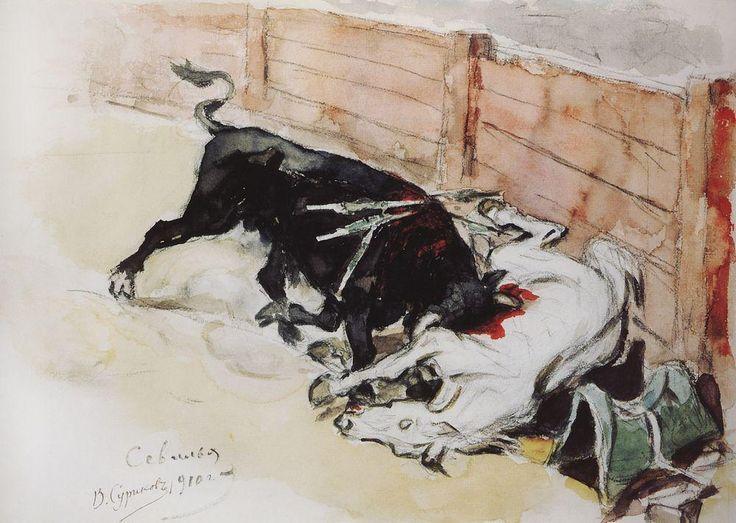 коррида Василий Суриков. Галерея живописи. Севилья. Бой быков. 1910