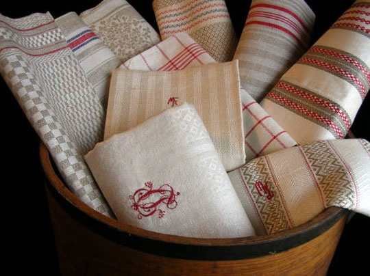Antique Linen Kitchen Towels. Search For Sets Like These On EBay By  Clicking On The