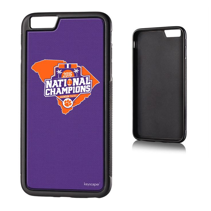 Clemson Tigers College Football Playoff 2016 National Champions iPhone 6 Plus State Design Bump Case