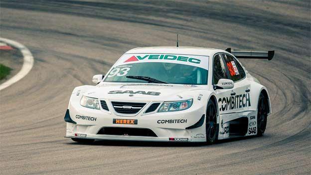 Saab In First Ever Twilight Stcc Race Bilar