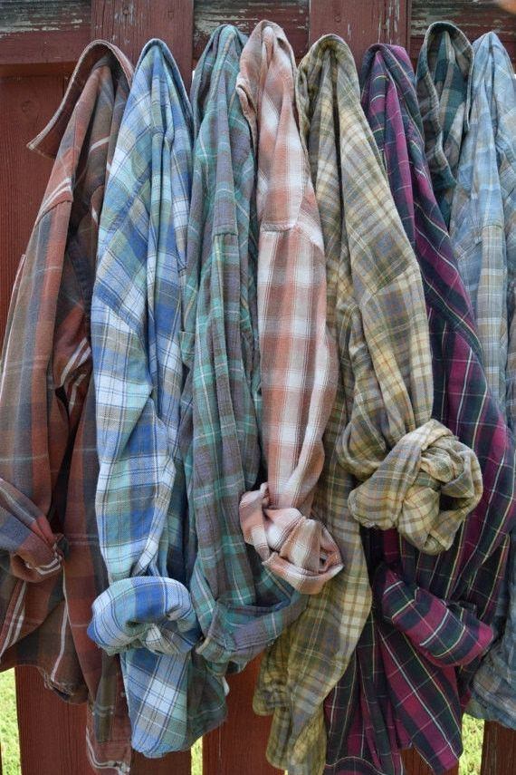 Sun Washed Worn-In Vintage Flannel Shirt | All Sizes                                                                                                                                                                                 More