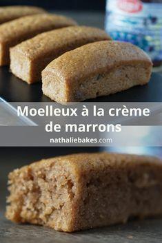 Recette de moelleux à la crème de marrons. Sans gluten, ultra moelleux et rapides à réaliser. Simplissime et délicieux. | nathaliebakes.com