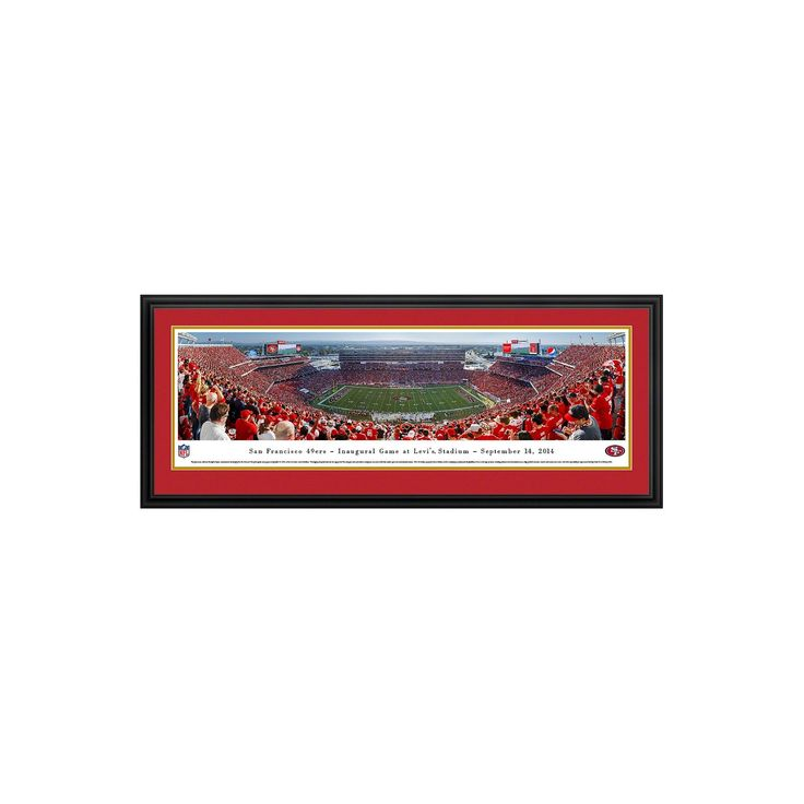 NFL Blakeway Stadium View Deluxe Framed Wall Art - San Francisco 49ers https://www.fanprint.com/licenses/san-francisco-49ers?ref=5750