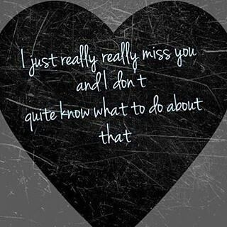 And it's constantly here, like a hole in my heart..so what do I do.. because oh how much loving you can hurt. -H