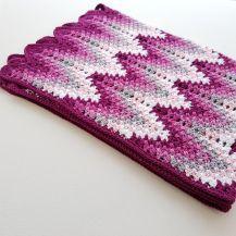 Heartbeat Ripple crochet blanket