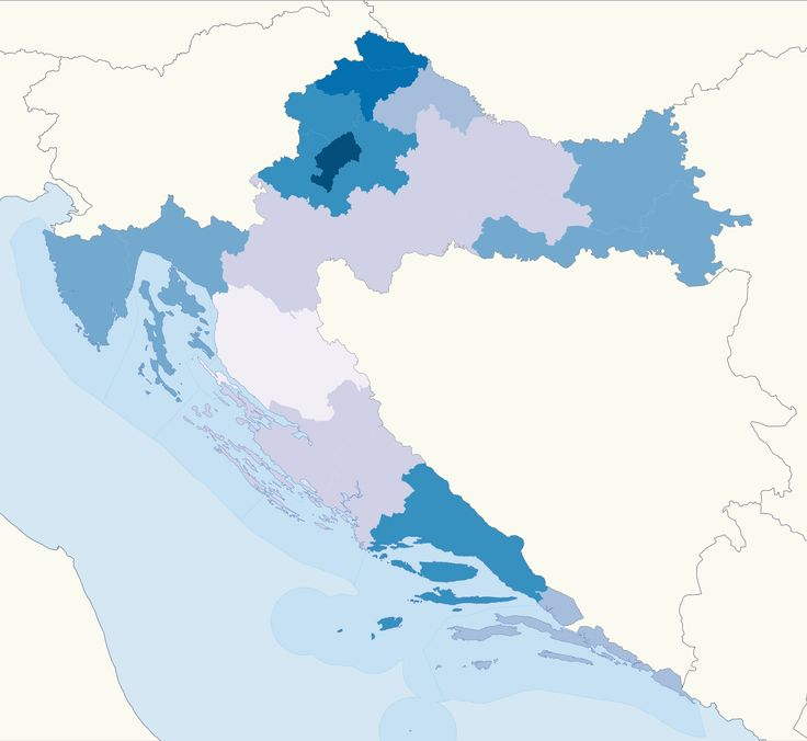Population density map of Croatia 2011 688