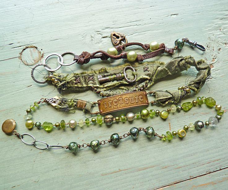 Treasure Bracelet/Necklace Wrap. $320.00, via Etsy.
