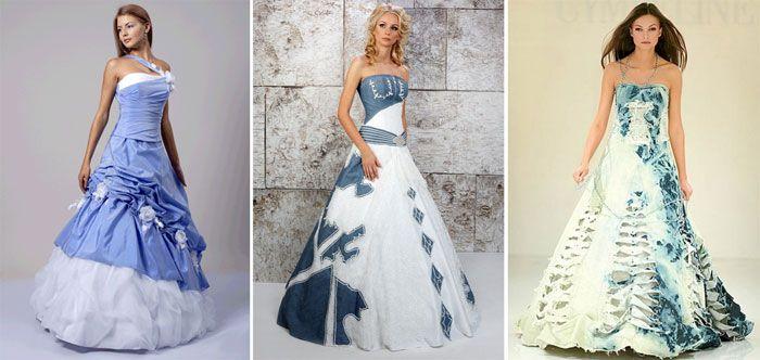 Свадебная одежда в стиле деним