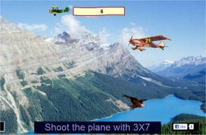Online multiplication games for learning the times tables. Suitable for grades 2, 3 and 4.