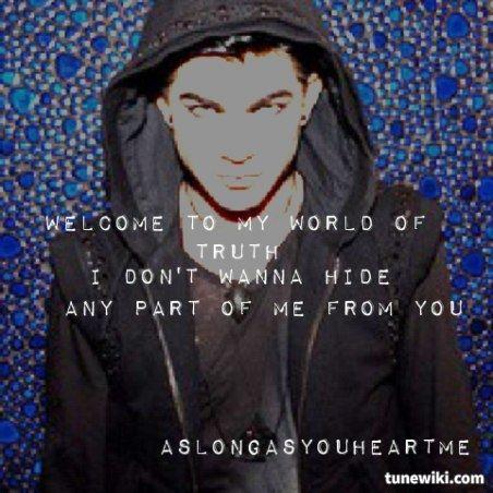 Underneath Lyrics by Adam Lambert