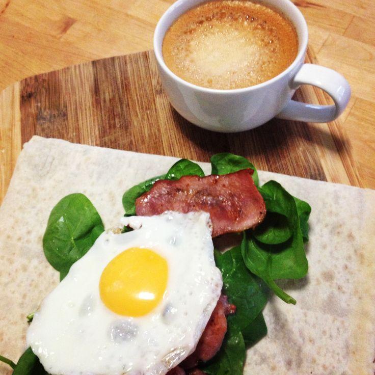 12wbt bacon & egg wrap! Delicious