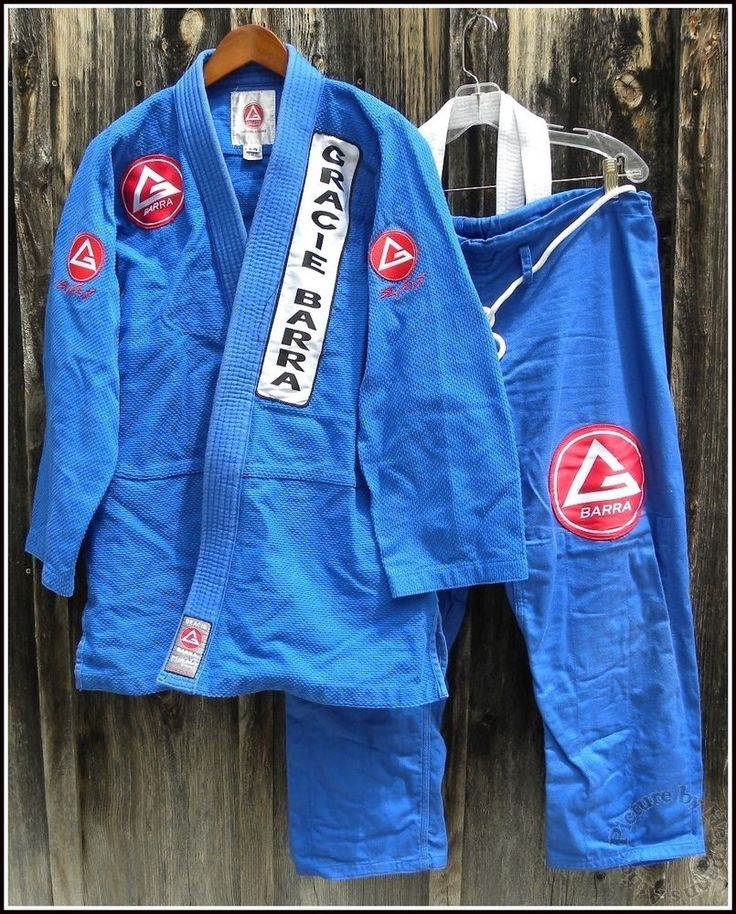 Gracie - Barra Official Kimono Jiu Jitsu MMA A2 Blue Training Gi + Black Belt #GracieBarra