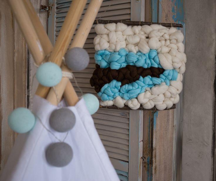 merino wool wallhanger