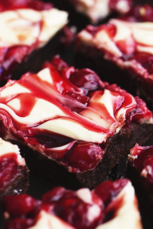 Cheesecake Topping Ingredients: 2 (8 ounce) cream cheese ½ cup sugar 1 egg ½ teaspoon vanilla Brownie Ingredients: 1 cup butter 6 ounce unsweetened chocolate 2 cups sugar 1 teaspoon vanilla 1 teaspoon salt 4 eggs 1¼ cup flour 1 (21 ounce) Lucky Leaf® Cherry Pie Filling
