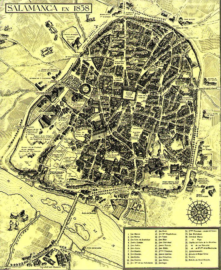 Salamanca Plano de 1858
