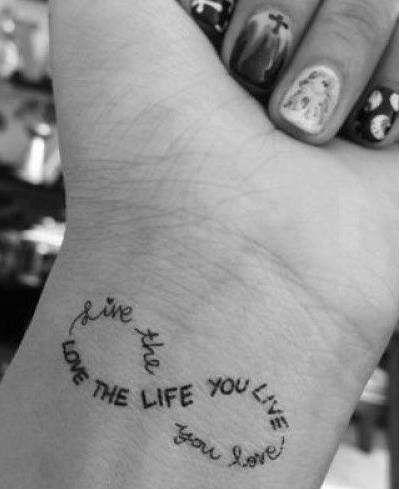 Infinity Message Tattoo