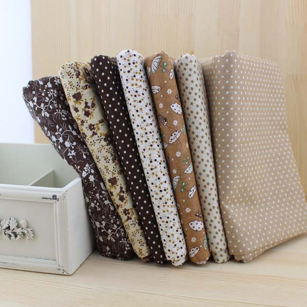 Aliexpress.com : Buy 7 pieces/lot Coffee Color Series Cotton Fabric Patchwork Fabric Square, Quilting Cloth 50cm*50cm FREE SHIPPING from Reliable patchwork fabric suppliers on Ya Handy $11.30