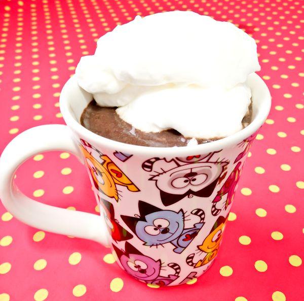 Bateu a loucura de inverno! Nas minhas épocas de gordices, eu amava fazer chocolate quente no inverno… A receita era um açucar só! Vixi! Então, como agora sou saudável e vocês também :) , cri…