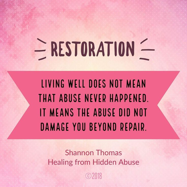 Stage Five: Restoration   Healing from Hidden Abuse: A Journey Through the Stages of Recovery from Psychological Abuse   Available on Amazon (Paperback, Kindle and Audio book) Also at Barnes & Noble, Smashwords, iBook and iTunes
