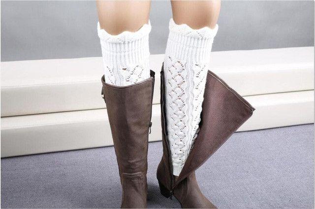 1 Pair 21.5cm Length Leg Warmers Warm Long Socks 9 Colors Fashion Knitted Socks For Women Calentadores De Piernas
