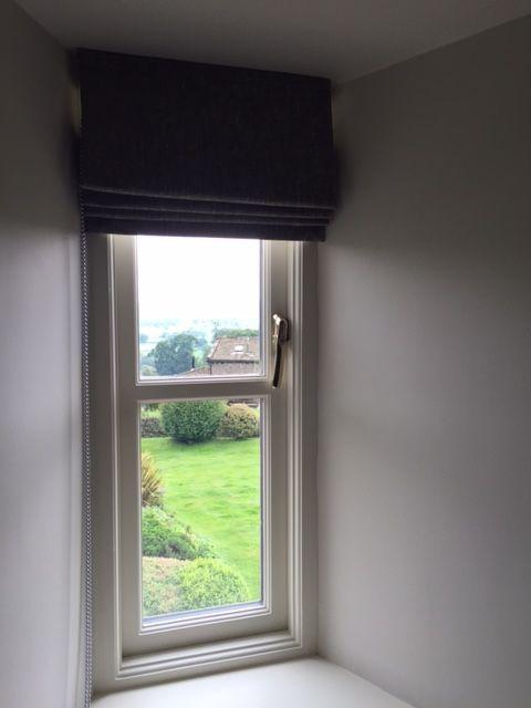 Small roman blind inside the window recess #designedbyjustso #windowtreatment #romanblind #interiors