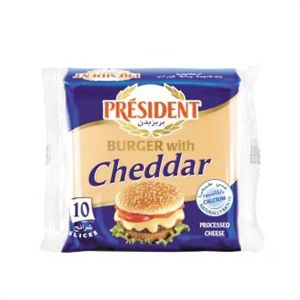Président Burger with Cheddar
