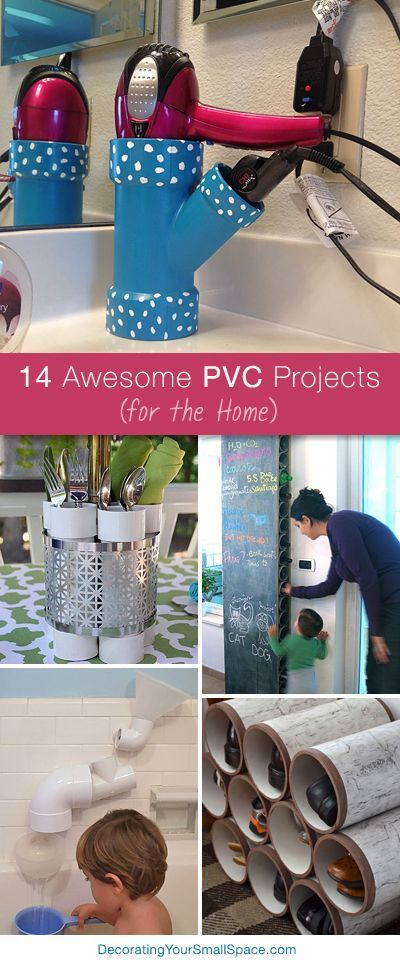 14 Awesome PVC Projects for the Home. Lots of great Ideas and Tutorials! #DIY #H…