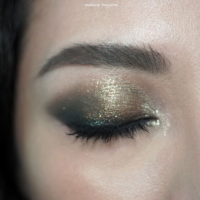 Victoria Beckham x Estee Lauder Makeup Collection - London Look: Eye look done with Bitter Clove, Black Myrrh, and Eye Foil in Blonde Gold (inner corners)