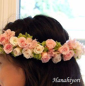 花冠☆小さいお花で作ったので、森ガール風になる花冠、かわいい!大きいお花で作るとまた違った印象になります♪