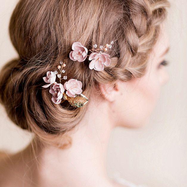 Szpilki Do Włosów Cherry, ślub - Florentes - Akcesoria do włosów