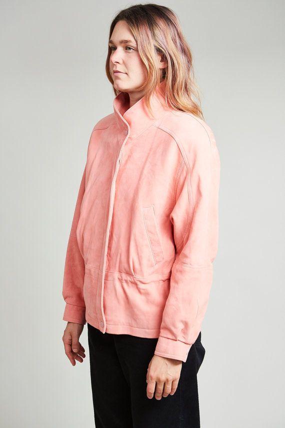 1980s Boutique Soft Bubblegum Pink Suede Western Coat S