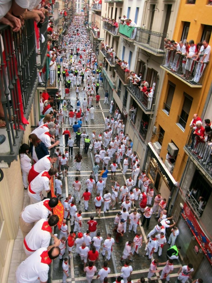 San Fermín Festival: The Running of the Bulls • ... Not sure how I feel about the treatment of the Bulls - need to research -c