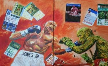 "Saatchi Art Artist bachmors artist; Painting, ""Boxing Match (dyptych)"" #art #LoveArt #bachmors #contemporaryart  #metamodernism #artist #palettes #color #painting #art  #SellingArt  #MakingArt #VendoArte #ArteContemporaneo #AllStyles #metamodernismo # Saatchiart @Saatchiart @ArtPal @bachmors #expressionism"