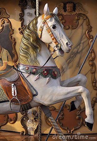 Horse on fairground carousel