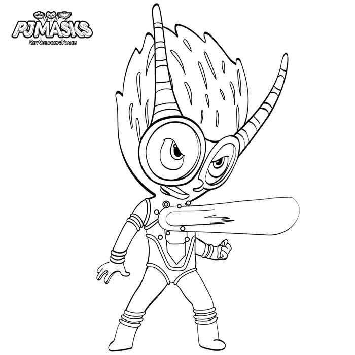 Firefly Pj Masks Coloring Page With Images Pj Masks Coloring