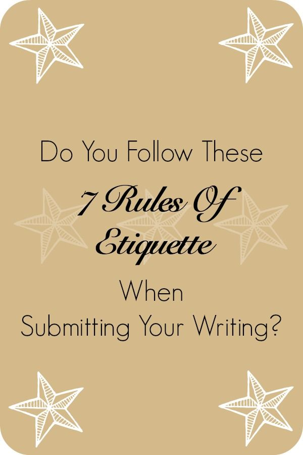 While not always necessary in getting your writing accepted, certain etiquette goes a long way with editors and could definitely earn you some brownie points with certain publications.