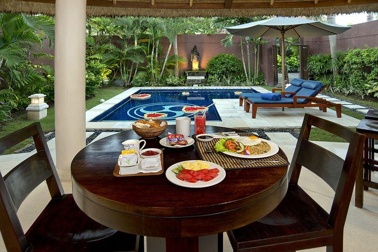In Villa breakfast! #dusunvillas #bali