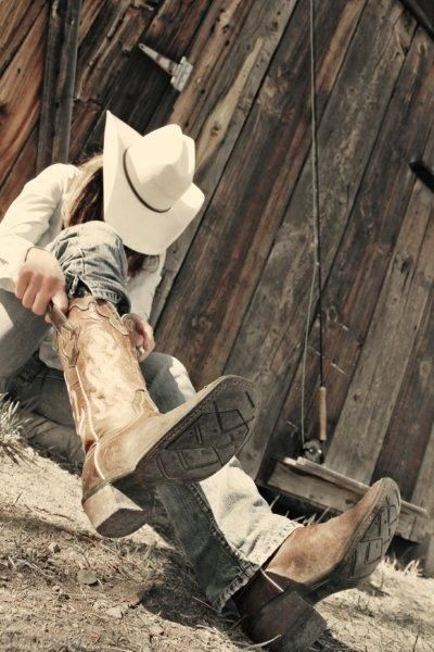 Putting on the cowboy boots for the day