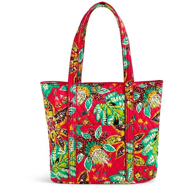 Vera Bradley Vera Tote ($86) ❤ liked on Polyvore featuring bags, handbags, tote bags, rumba, tote purses, handbags totes, vera bradley handbags, white tote and pocket tote