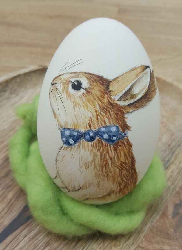Hand-painted goose eggs for a lovely and one of a kind Easter decoration!