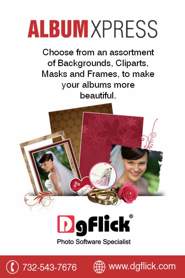 Every perfect album needs it's accessories. #AlbumXpress by #DgFlick gives you an entire assortment of them to use.Get a free trial now http://goo.gl/giX32HOr you can buy it at #BHSuperStore http://goo.gl/fCqQRF