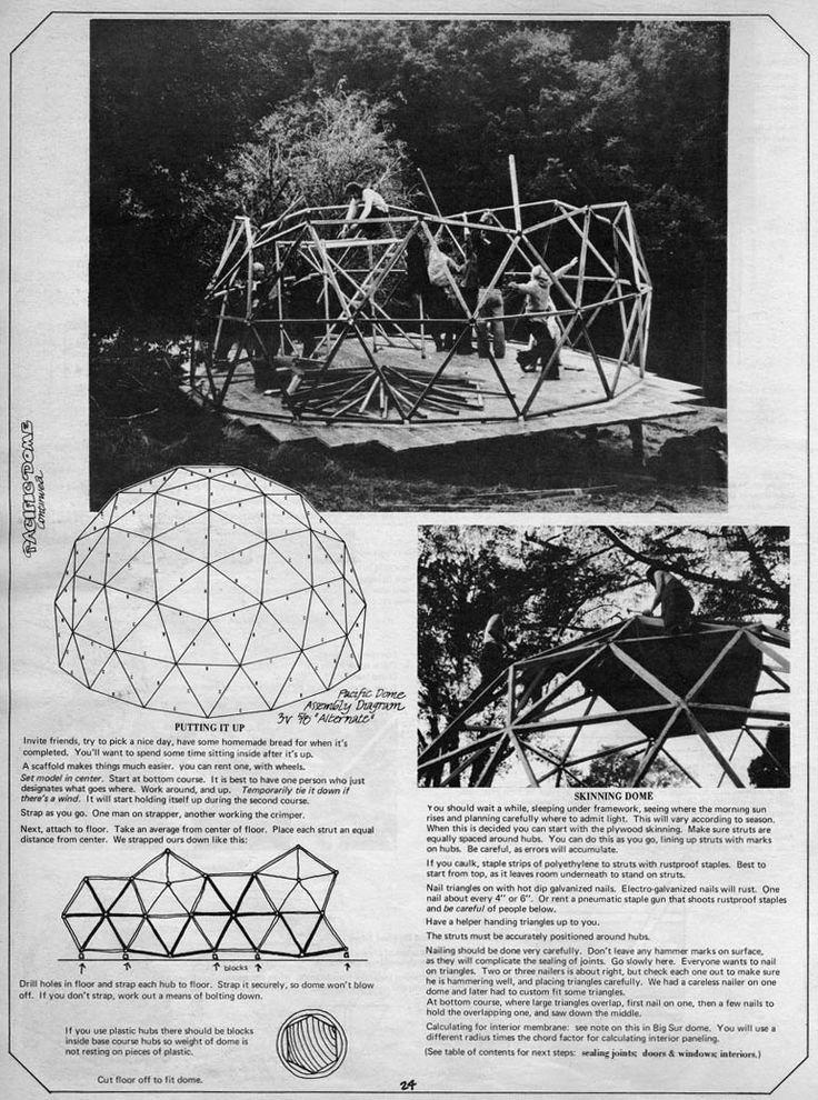 How to Build Your Own Geodesic Dome                                                                                                                                                                                 Más
